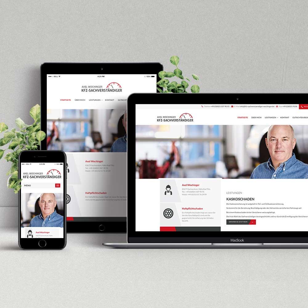 Webdesign & Programmierung Kfz-Sachverständiger Axel Wochinger
