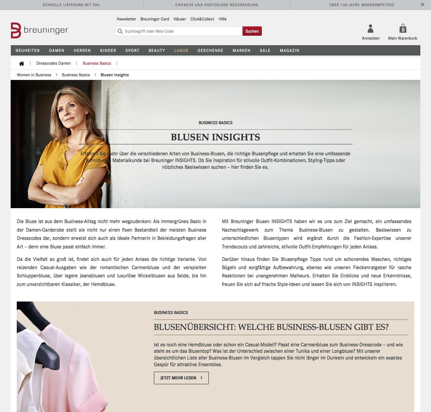 Previw der Blusen Insights Women in Business