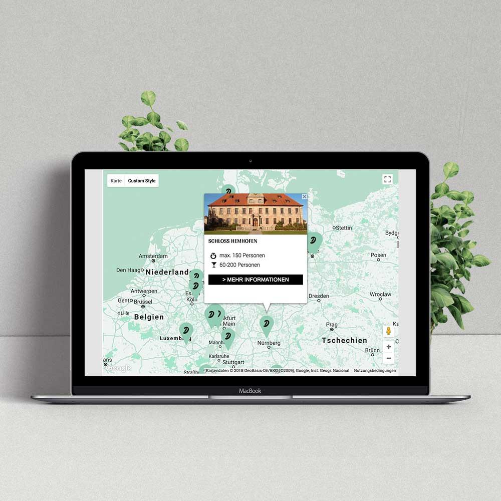 Interaktive Infografik Hochzeitslocations –MADD Agency