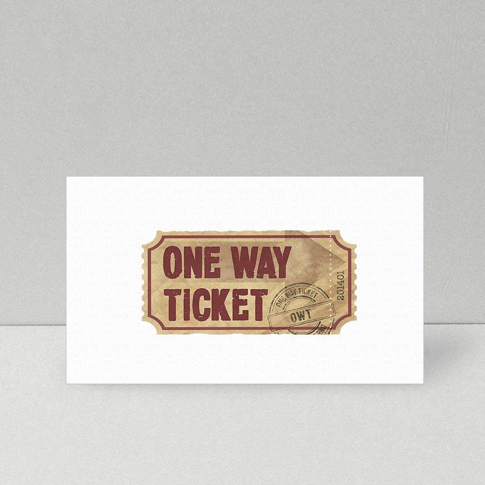 Logodesign One Way Ticket
