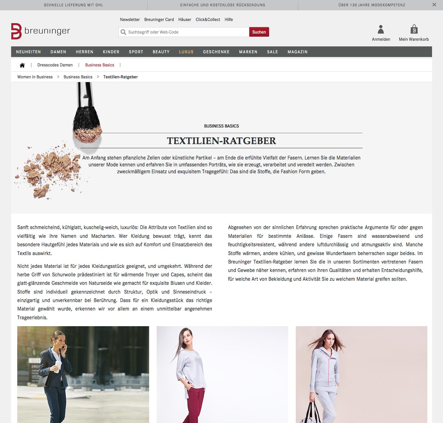 Previw des Textil-Ratgebers Women in Business